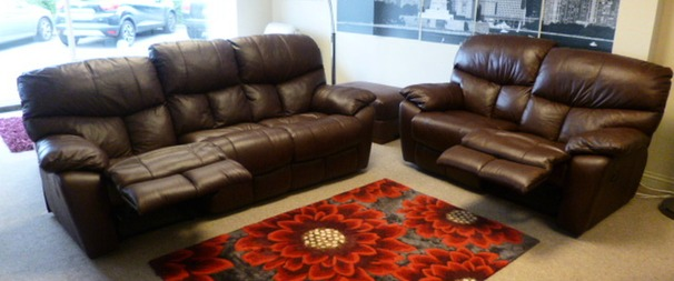 Pembroke 3 Str Manual Recliner + 2 Str Manual Recliner in Cognac (Package Price £2,099)