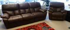 Pembroke 3 Str Manual Recliner +2 x Electric Recliner Chair in Cognac£2799 - Click for more details