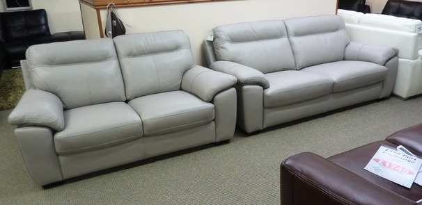 Trento 3 Seater and 2 Seater Silver Grey (Package Price £1,699)