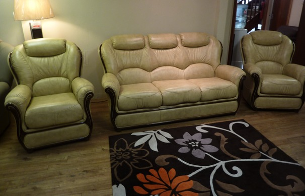 GEMMA 3 seater and 2 chairs- antique beige £1999