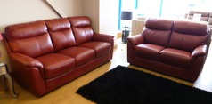 Brussels 3 Seater + 2 Seater in Miami Buffalo Red £2,099 - Click for more details