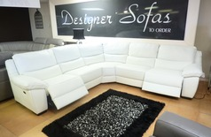 Marino electric recliner corner white £2799 - Click for more details