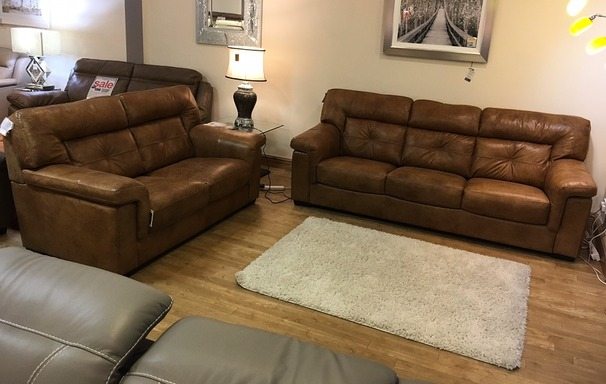 Cambridge 3 seater and 2 seater antique tan £2149