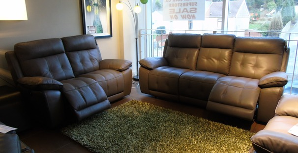 TOLEDO electric recliner 3 seater and 2 seater £2599 taupe