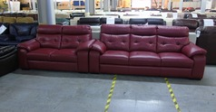 Lyon 3 seater and 2 seater red £1499  (CLEARANCE OUTLET) - Click for more details