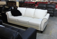 Private label 3 seater sofa oyster (dark piping) £499 (CLEARANCE OUTLET) - Click for more details