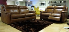 Cheltenham 3 seater and electric recliner 2 seater mid tan £2199 (SUPERSTORE) - Click for more details