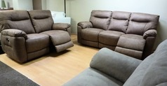 Biscay electric recliner 3 seater and 2 seater mid beige £1699 (SUPERSTORE) - Click for more details