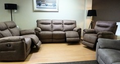 Biscay electric recliner 3 seater, 2 seater and chair mid beige fabric £2199 (SUPERSTORE) - Click for more details
