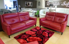 Winchester midi sofa and 2 seater red £1899 ( SWANSEA SUPERSTORE) - Click for more details