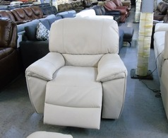Cream electric recliner chair £499 (CLEARANCE OUTLET) - Click for more details