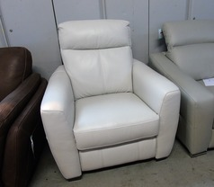 Rochelle electric recliner chair frost £499 (CLEARANCE OUTLET) - Click for more details