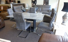 Grey Marble dining set and 4 chairs £999 (SUPERSTORE) - Click for more details