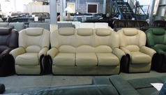 Garda 3 seater and 2 chairs cream £1499 (CLEARANCE WAREHOUSE) - Click for more details