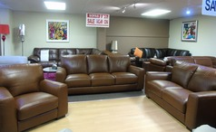 PORTO 3 seater, 2 seater and chair in vintage brown £2174 (SUPERSTORE) - Click for more details