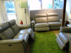 Cotswold electric recliner 3 seater and 2 seater grey 2799 (SWANSEA) - Click for more details