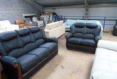 Gemma 3 seater and 2 seater in black £1399 (CLEARANCE WAREHOUSE) - Click for more details