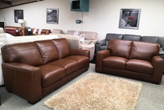 Porto 3 seater and 2 seater tan £1599 (SWANSEA) - Click for more details