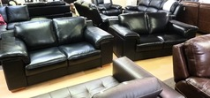 Madrid 2 seater and 2 seater black 999 (CLEARANCE OUTLET) - Click for more details