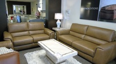 Imola 3 seater and 2 seater caramel £2999 (SUPERSTORE) - Click for more details