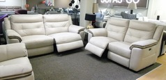 Miami fabric elctric recliner 3 seater and 2 seater beige fabric £1799 (SUPERSTORE) - Click for more details
