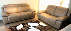 Torino 3 seater and 2 seater £2499 Taupe hide (SUPERSTORE) - Click for more details