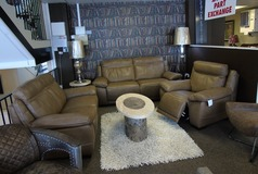 Torino 3 seater, 2 seater and electric recliner chair natural beige £3499 (SUPERSTORE) - Click for more details