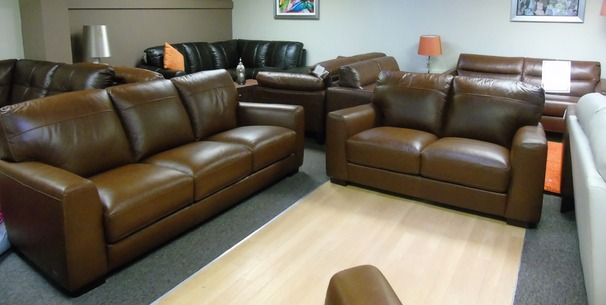 Porto 3 seater and 2 seater tan £1599 (NEWPORT)