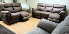 Biscay electric recliner 3 seater and 2 seater mid beige FABRIC £1699 (NEWPORT) - Click for more details