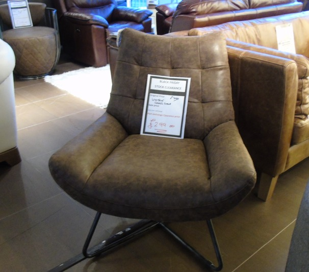 Cross Chair vintage leather £299 (SUPERSTORE)