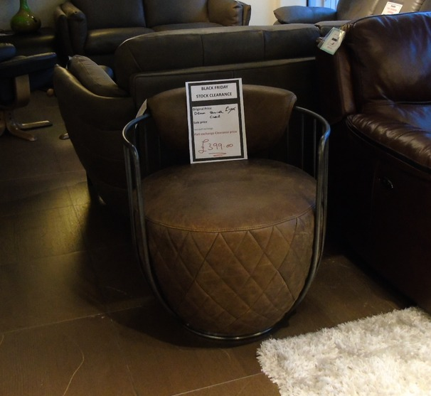 Drum chair vintage leather £399 (SUPERSTORE)