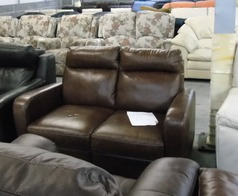 PRATO 2 seater mid brown £249 (CLEARANCE OUTLET) - Click for more details