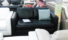 Tivoli 2 seater black leather £299 (CLEARANCE OUTLET) - Click for more details
