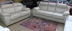 Nimes 3 seater and 2 seater £999 cream- dark piping (CLEARANCE OUTLET) - Click for more details