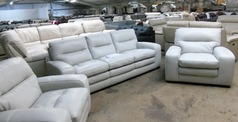 Roberta 3 seater and 2 chairs stone hide £999 (CLEARANCE OUTLET) - Click for more details