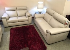 Sacramento 3 seater and 2 seater cream -dark piping £2199 (SWANEA) - Click for more details