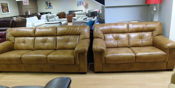 Cambridge 3 seater and 2 seater light tan £1999 (NEWPORT)