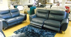 Monaco electric recliner 3 seater and 2 seater blue £2599 (CARDIFF) - Click for more details