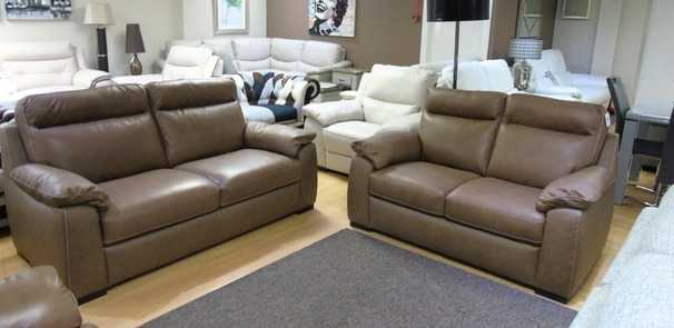 Latina 3 seater and 2 seater sand hide £1799 (SUPERSTORE)