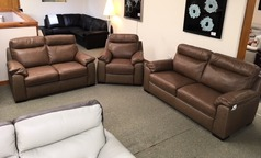 LATINA 3 seater, 2 seater and electric recliner chair sand £2598 (SWANSEA) - Click for more details