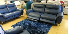 Monaco electric recliner 3 seater and 2 seater blue £2499 (SUPERSTORE) - Click for more details