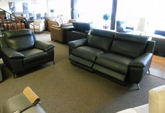 Roby electrc recliner 3 seater and chair slate grey  £2499 (SUPERSTORE) - Click for more details