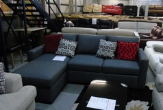 Grey chaise sofa bed £699 (SUPERSTORE) - Click for more details