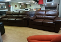 Donahue 3 seater and 2 seater  mid rust £799 (SUPERSTORE) - Click for more details