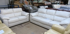Pescaro 3 seater and 2 seater cream £1499 (SUPERSTORE)  - Click for more details