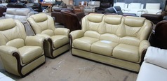 Gradi 3 seater and 2 chairs beige hide £1799 (SUPERSTORE) - Click for more details