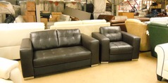 Parma 2 seater and 1 chair brown £599 (SUPERSTORE) - Click for more details