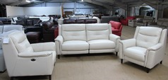 Cream Winchester electric recliner 3 seater and 2 electric recliner chairs £2499 (SUPERSTORE) - Click for more details