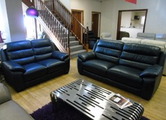 Charlotte 3 seater and 2 seater navy £1899 (SWANSEA) - Click for more details