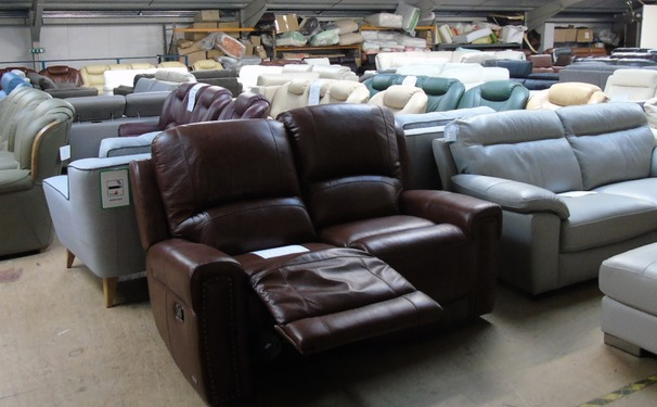 Marlow recliner 2 seater sofa - dark tan £699 (SUPERSTORE)